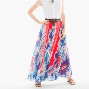 Chico's Tropical Floral Maxi Skirt sz 3 or XL